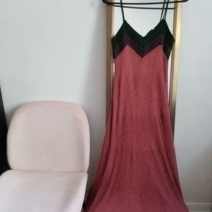 Shimmery Maxi Dress - Sleeveless